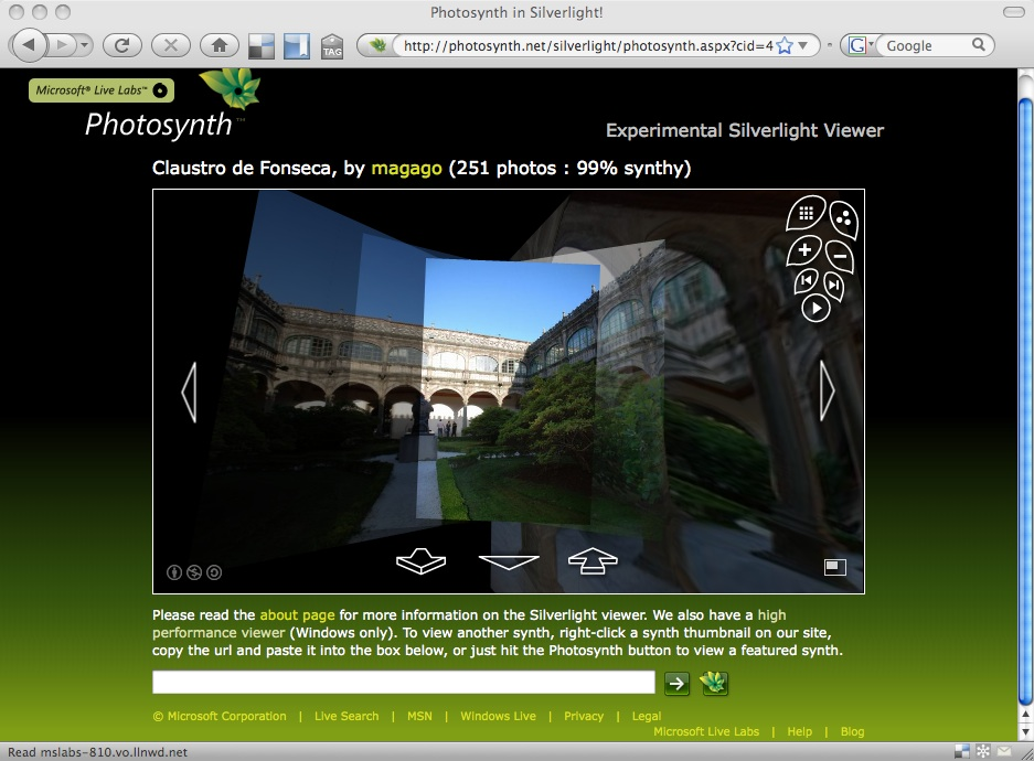 Silverlight Photosynth viewer